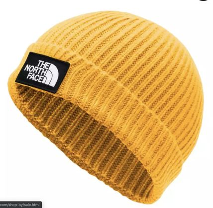 THE NORTH FACE ニットキャップ・ビーニー 【送料関税込み】THE NORTH FACE LOGO BOX CUFFED BEANIE yellow
