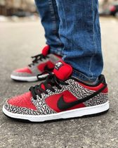 Supreme x NIKE SB Dunk Low Premium 'Red Cement' AW 12 2012
