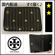 Tory Burch☆STAR STUD SLIM MEDIUM WALLET 折財布☆税・送込