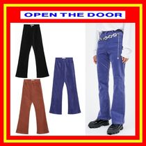[OPEN THE DOOR] color velvet boots-cut pants -[全3色]/追跡付
