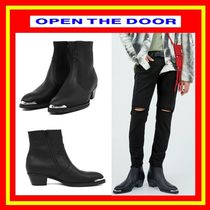 [OPEN THE DOOR]  cow hide western ankle boots /追跡付