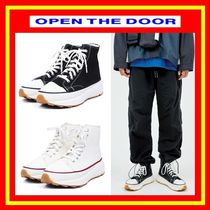 OPEN THE DOOR(オープンザドア) スニーカー [OPEN THE DOOR]  platform canvas shoes /追跡付