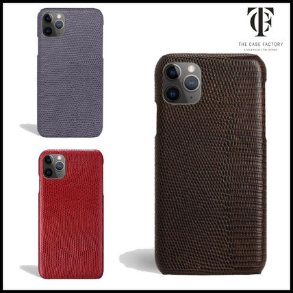 THE CASE FACTORY スマホケース・テックアクセサリー 【関税送料込】THE CASE FACTORY リザード柄 iPhone 11 Proケー