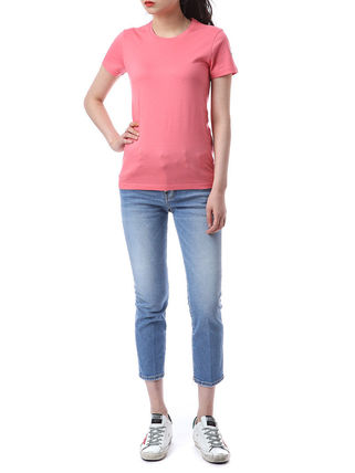 MONCLER Tシャツ・カットソー 【MONCLER】19AW ロゴパッチ コットン Tシャツ PINK/安心追跡付(3)