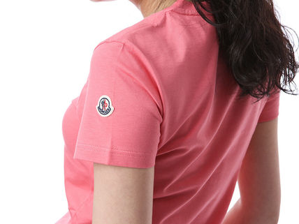 MONCLER Tシャツ・カットソー 【MONCLER】19AW ロゴパッチ コットン Tシャツ PINK/安心追跡付(6)