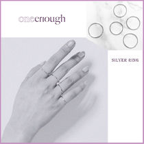 ☆韓国デザイナー☆ ONE ENOUGH Mikro Five Rings Set - Sliver