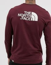 The North Face Easy long sleeve t-shirt in burgundy