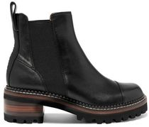 ★SEE BY CHLOE★LEATHER CHELSEA PLATFORM BOOTS