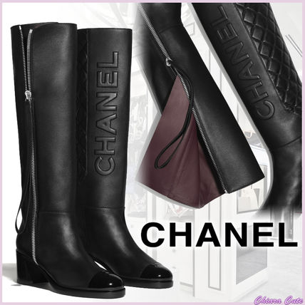 【19AW NEW】CHANEL_women/long boots/カーフスキンロングブーツ