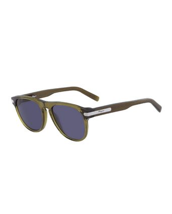 Salvatore Ferragamo サングラス 【関税・送料無料】Men's Classic Acetate Sunglasses