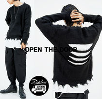 OPENTHEDOOR back cutting damage knit OH100 追跡付