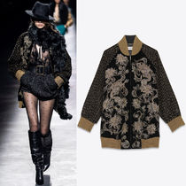 WSL1586 LOOK14 LONG VARSITY JACKET WITH EMBROIDERY