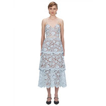 Self-portrait sp24 New season Flower Lace Midi Tiered Dress