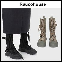 ☆RAUCOHOUSE☆ ブーツ LEATHER COMBAT CANVAS BOOTS