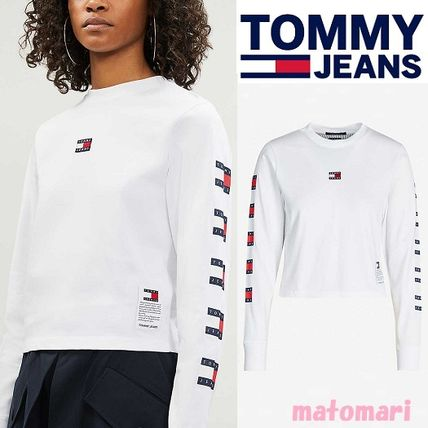 Tommy Hilfiger Tシャツ・カットソー 日本未入荷!!【Tommy Jeans】袖ロゴ フラッグ ロンT
