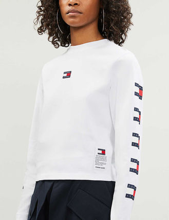 Tommy Hilfiger Tシャツ・カットソー 日本未入荷!!【Tommy Jeans】袖ロゴ フラッグ ロンT(4)