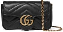 ★GUCCI★GG MARMONT SUPER MINI QUILTED LEATHER SHOULDER BAG