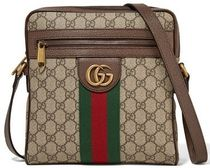 ★GUCCI★OPHIDIA SMALL PRINTED COATED-CANVAS SHOULDER BAG