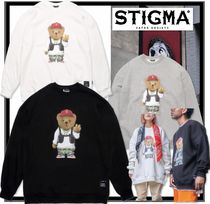 ★関税込★STIGMA★V BEAR OVERSIZED HEAVY SWEAT CREWNECK★2色