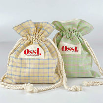 Ossl(オスル) ポーチ 韓国大人気★ Ossl. ★ cotton candy check pouch 3colors