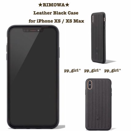 RIMOWA スマホケース・テックアクセサリー ★RIMOWA★ Leather Black Case for iPhone XS / XS Max