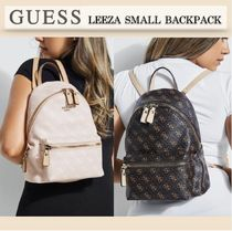 SALE☆Guessロゴ入り☆LEEZA PEBBLED SMALL BACKPACK