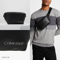 CALVIN KLEIN 19AW新作 'ロゴ付きDIRECTクロスボディバッグ'