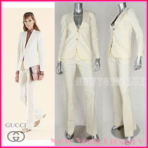 GUCCI★素敵!NATURAL WHITE FLORA LINING JACKET & PANTS SUIT