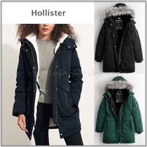 Hollister☆裏ボア&ファー付きダウン☆ Cozy-Lined Down Parka