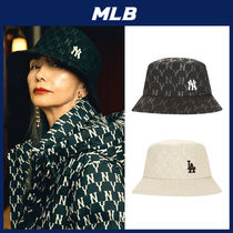 人気【MLB】★MONOGRAM TONE ON TONE BUCKET HAT★19AW
