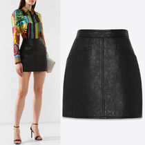 WSL1622 SKIRT IN ANTIQUED LEATHER