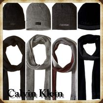 【大人気!!】Calvin Klein Men's Hat and Scarf 冬限定セット