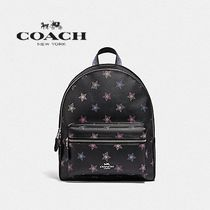 【COACH】MEDIUM CHARLIE BACKPACK 星柄デザインリュック F79964