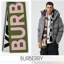 【BURBERRY】正規店買付◆2019AW新作◆ロゴプリントマフラー