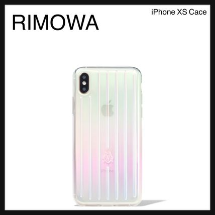 RIMOWA スマホケース・テックアクセサリー 大人気☆RIMOWA☆Iridescent Groove Case for iPhone XS ケース