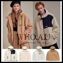 ◆WHO.A.U◆ 2019 NEW TEDDY DUMBLE HOOD ZIP UP (4色) 男女兼用