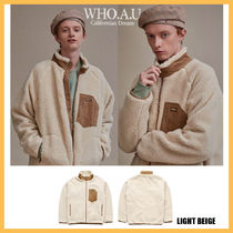 ◆WHO.A.U◆2019FW TEDDY DUMBLE ZIP UP (LIGHT BEIGE) 男女兼用