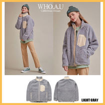 ◆WHO.A.U◆ 2019FW TEDDY DUMBLE ZIP UP (LIGHT GRAY) 男女兼用