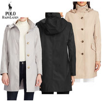 大特価!Ralph Lauren Hooded Cotton-Blend  トレンチコート