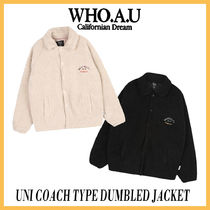 ◆WHO.A.U◆UNI COACH TYPE DUMBLED JACKET(2色) 可愛いフリース