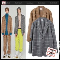 19AW★BAD IN BAD★3 BUTTON CHECK JACKET チェック ジャケット