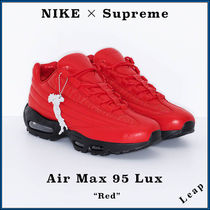 """【Nike×Supreme】コラボ 激レア Air Max 95 Lux """"Red"""""""