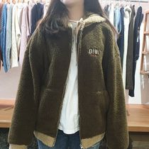 【OIOI】TWO TONE SHEARLING HOOD ZIPUP 5252 by o!oi もこもこ!