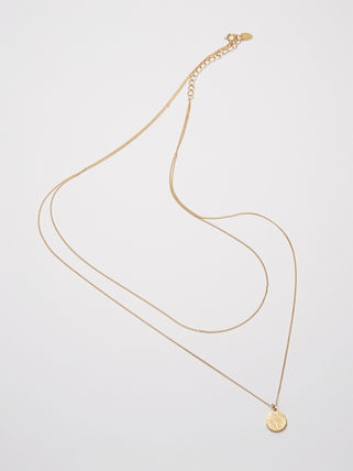 Hei ネックレス・ペンダント 【Hei】coin layered necklace〜コイン レイヤードネックレス(2)