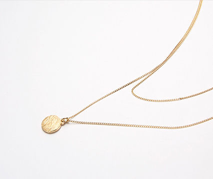 Hei ネックレス・ペンダント 【Hei】coin layered necklace〜コイン レイヤードネックレス(6)
