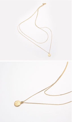 Hei ネックレス・ペンダント 【Hei】coin layered necklace〜コイン レイヤードネックレス(11)