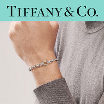 TIFFANY & Co. Makers Narrow Chain Bracelet Silver 18k Gold