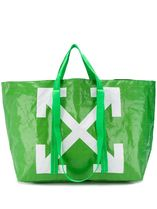 ★OFF-WHITE★ NEW COMMERCIAL TOTE BAG ポリエチレンバッグ 緑