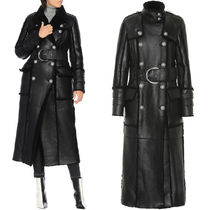 BAL482 SHEARLING DOUBLE BREASTED COAT