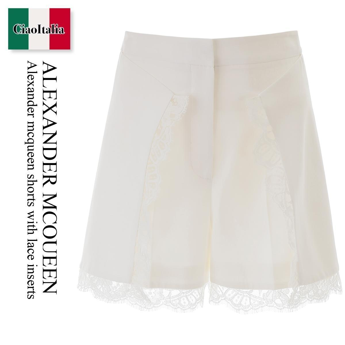 ALEXANDER MCQUEEN Shorts With Lace Inserts (alexander mcqueen/ショートパンツ) ALEXANDER MCQUEEN SHORTS WITH LACE INSER  610470 QEAAA  610470 QEAAA 9007